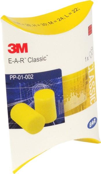3M Gehörschutzstöpsel PP01002 EAR Classic II, SNR: 28 dB, Box = 250 Paar
